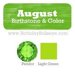 August Birthstone Color Meaning Mythology And Great Birthstone Gift Idea List August Birth Stone Birthstone Colors Birthstone Colors Chart