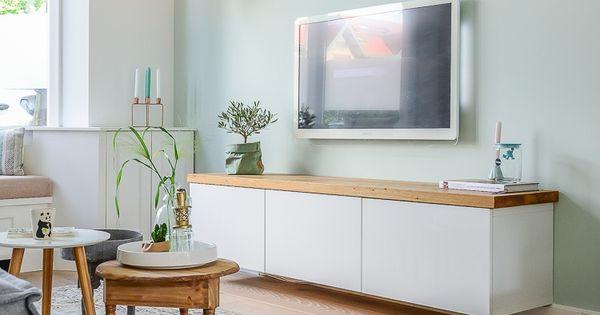 Tv meubel ikea jaren 30 woning woonkamer makeover haarlem bintihome my work pinterest - Ikea tapijt salon ...