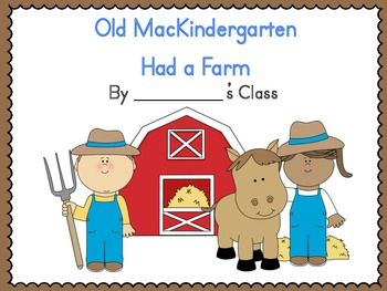 Old Mackindergarten Had A Farm Class Book Freebie Class Book Farm Books Farm Preschool