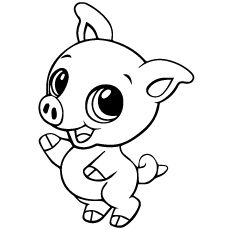 Top 20 Free Printable Pig Coloring Pages Online Baby Animal Drawings Zoo Animal Coloring Pages Cute Coloring Pages