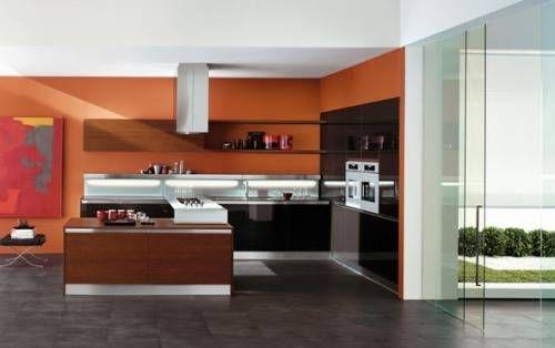 Asian Paints Colour Shades For Office Interior Exterior Doors Design Orange Kitchen Walls Orange Kitchen Modern Kitchen Furniture