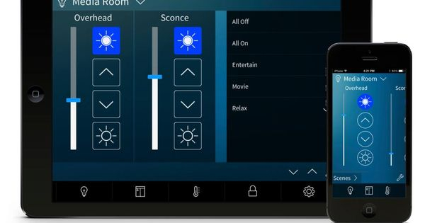 Smart Home Automation Crestron Responds To Apple Homekit With Pyng Ipad Control System Looks