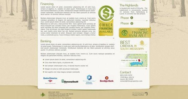 Highlands Ellisville Website By Happy Catfish Web Studio Via Behance Web Studio Technology Consulting Website