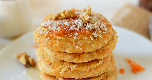 Carrot and Coconut Vegan Pancakes | minimalistbaker.com- use all purpose flour, the