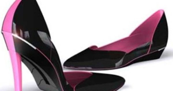 Awesome idea! A high-heel stiletto shoe that converts into a flat.