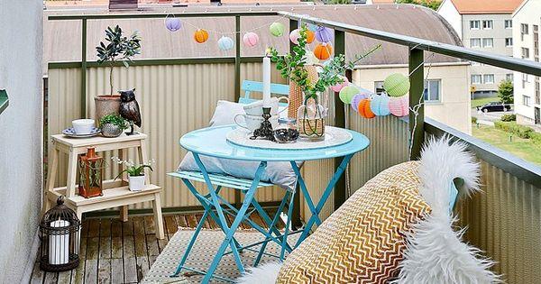 Patio terra o decorado varanda decorada balcony for Patio decorado