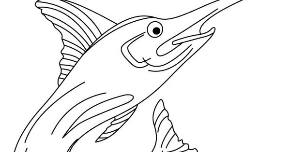 Xiphias Coloring Page Xiphias Page Co...