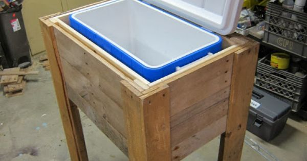 Plans To Build Make A Wood Cooler Stand Wooden Ice Chest