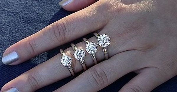 What Is The Average Diamond Size For An Engagement Ring Now You Could Ask Your Relatives And Friend Carat Comparison Diamond Carat Size Engagement Ring Sizes