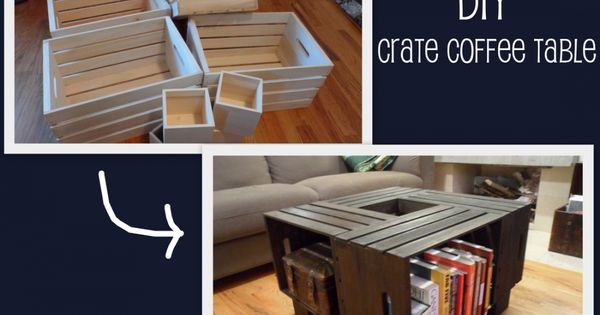 Diy furniture crate coffee table a trail life fun for A p furniture trail