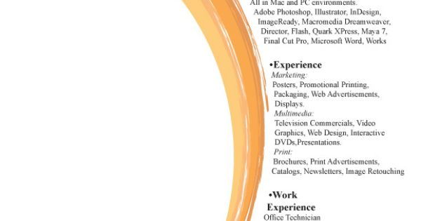 Simple Resume Design Ideas that work Pinterest