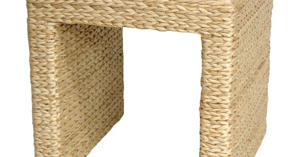 Rush Grass End Table In Natural For The Home Pinterest