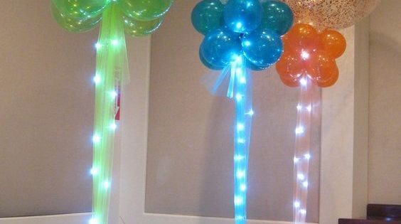 Lighted Balloon Centerpiece : The best party decorating ideas themes lighted