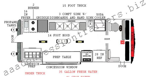 Food truck autward design 15 foot food truck plan 14 for Food truck design plan