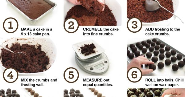 How to make cake balls or pops! The steps in this recipe