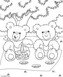 Teddy Bear Coloring Pages Teddy Bear Picnic Birthday Party