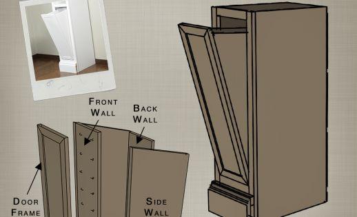 Tilt out closet hamper part of the build basic closet - Diy tilt out hamper ...
