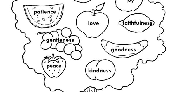 Fruits Spirit Coloring Pages: Fruit Of The Spirit Coloring Page Preschool Coloring Pages
