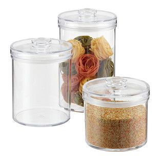 Clear Round Acrylic Canisters Glass Food Storage Container