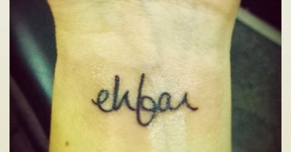"""ehfar - everything happens for a reason. I'm always saying """"everything happens"""