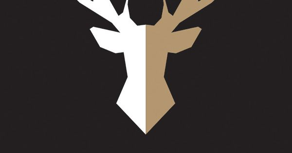 Affiche scandinave cerf origami noir taupe d coration int rieure illust - Affiches decoration interieure ...