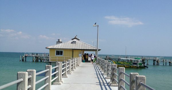 The bay side pier is one of two fishing piers at fort de for Fort desoto fishing pier