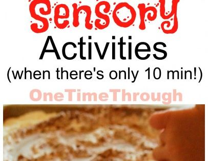 Terrifically SIMPLE and QUICK sensory activities for little ones from One Time