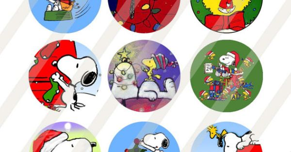 Snoopy Christmas Digital Collage Sheet Size 4x6 For