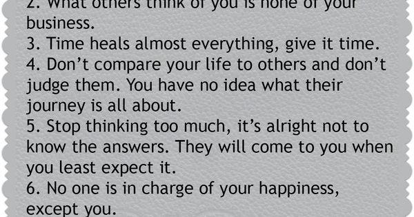 7 life rules