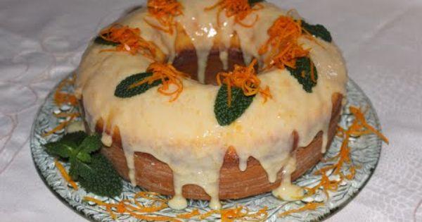 كيك البرتقال الشهي بصلصة لذيذة Food Desserts Cake