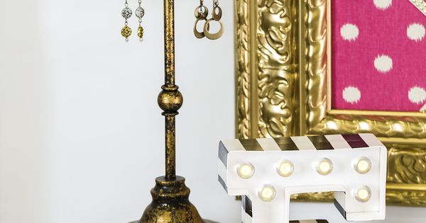 Hollywood Glam Is At Your Fingertips With This Chic Gold And Black Dresser Decor Modern Glam