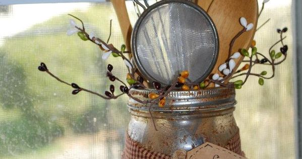 Love this idea !!! This will not only compliment a Primitive Kitchen,