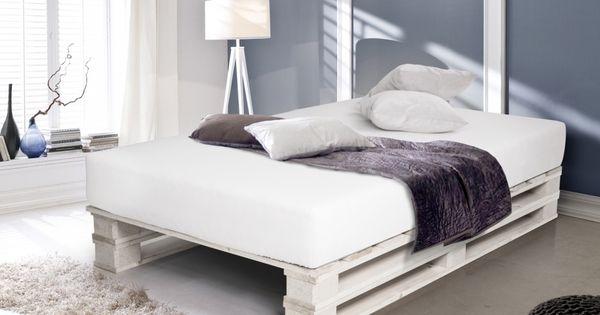 Paletti Duo Weiss Lackiert Bett Aus Paletten 90 X 200 Cm Bett Aus Paletten 140 200 Modernen Haus Bett Aus Paletten Palettenbett Europaletten Bett