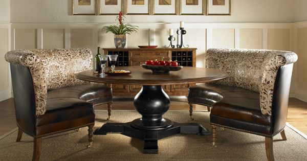 Throw Pillows Outdoor : Colorado Style Home Furnishings - Dining Banquette Bench - Dining Room Furniture dining room ...