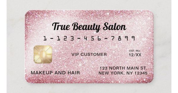 Unique Sparkly Pink Glitter Credit Card Zazzle Com In 2020 With