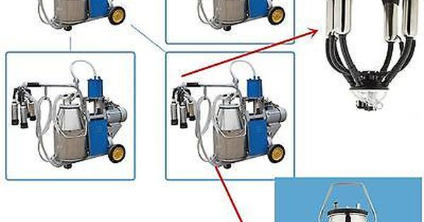 Electric Piston Vacuum Pump Milking Machine Milker For Farm Cows Bucket Quality Farm Cow Vacuum Pump Vacuums