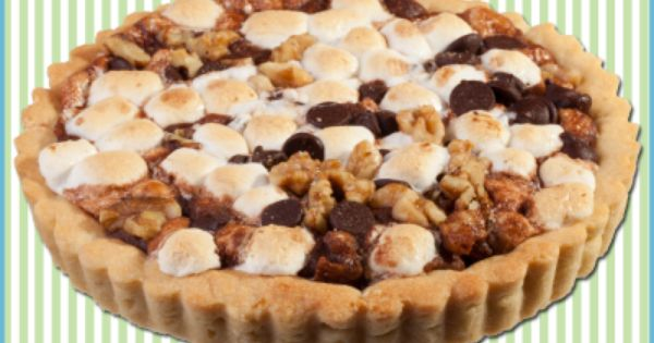 ... Walnuts, chocolate chips and marshmallow interlaced with home-made