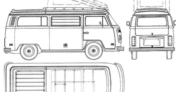 car blueprints    1973 volkswagen westfalia van blueprint