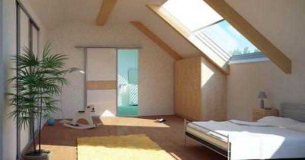 schlafzimmer auch unter dem dach gem tlich und sch n einrichten hier sparen schiebet ren platz. Black Bedroom Furniture Sets. Home Design Ideas
