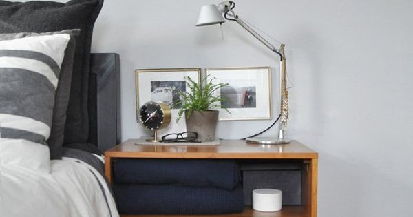 Bryan & Sarah's Vintage Modern Home & Studio - like the bedside