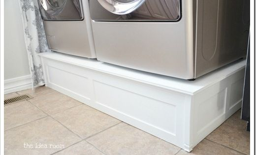 20 DIY Laundry Room Projects - Washer Dryer Pedestal
