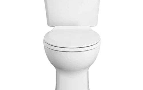 American Standard Edgemere White Watersense Round Chair Height 2 Piece Toilet 10 In Rough In Size At Lowes Com Round Chair Edgemere Water Sense
