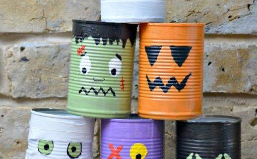 Don't forget your Tin Can Bowling! Lots of way to use these - play, count, add.. and when you are done, use them as cool pen pots!
