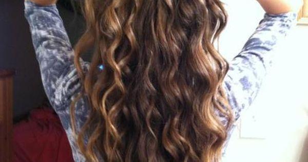 beautiful curly hair, I wish I had my long hair again