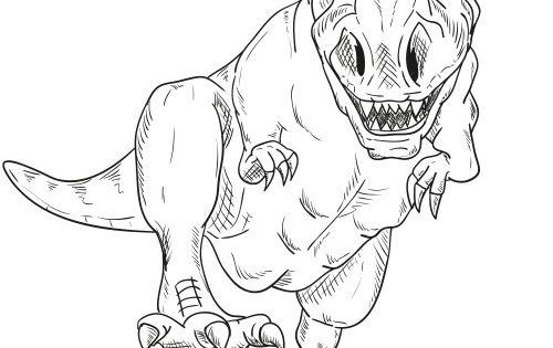 T Rex Ausmalbild Ausmalbilder Fur Kinder Dinosaurier Ausmalbilder Malvorlage Dinosaurier Ausmalbilder