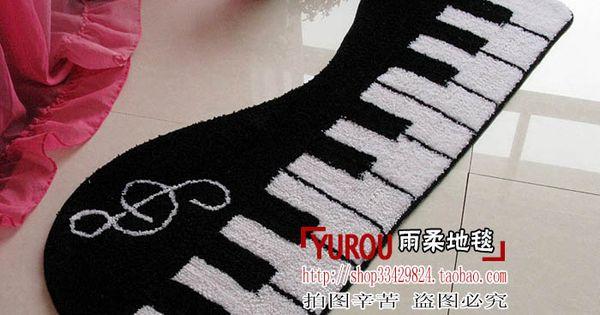 Piano Keys Music Notes New Doormat Mat Pad Small Carpet