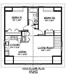 Carriage Home 989 Sq Ft Home Plans By Harmony Homes Carriage House Plans House Plans How To Plan