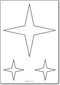 4 Pointed Star Shape Free Printables I Want This Stenciled On The Guest Bathroom Ceiling In Lig Star Template Printable Star Shape Free Motion Quilt Designs