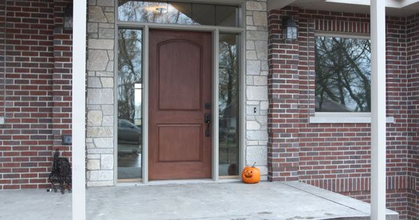 Exterior Doors Rustic Mahogany 2 Panel Camber Entry Door