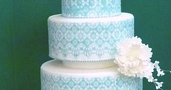 Blue Wedding Cakes Cakes Washington DC Maryland MD Wedding Cakes